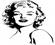 Coloriage marilyn monroe celebrite star