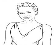 Coloriage miley cyrus celebrite star