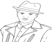 Coloriage bruno mars celebrite star