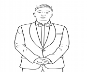 Coloriage psy celebrite star