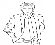 Coloriage zac efron celebrite star