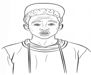 Coloriage jaden smith celebrite star