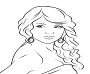 taylor swift dessin à colorier