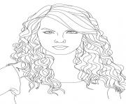 Coloriage taylor swift 2
