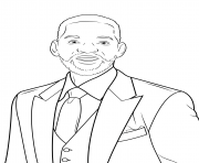 will smith celebrite star dessin à colorier