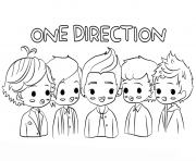 one direction celebrite star dessin à colorier