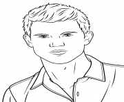 Coloriage taylor lautner