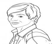 austin moon celebrite star dessin à colorier