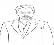 leonardo dicaprio celebrite star dessin à colorier