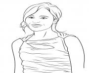 ellen page celebrite star dessin à colorier