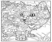 Coloriage chat adulte animaux