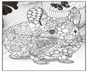 Coloriage cameleon mandala adulte zentangle dessin