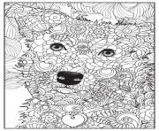 Coloriage chien border collie adulte animaux