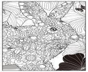 lapin adulte animaux dessin à colorier