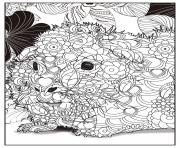 Coloriage lion adulte animal relax dessin