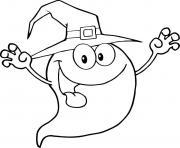 fantome halloween personnage drole dessin à colorier