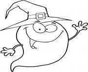 fantome halloween personnage amusant dessin à colorier
