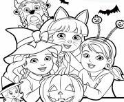 halloween pat patrouille dora exploratrice citrouille dessin à colorier