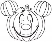 disney mickey mouse citrouille halloween dessin à colorier