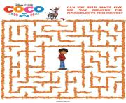 COCO Activity Sheet Maze dessin à colorier