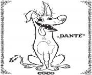 Dante Coco Disney dessin à colorier