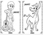 Coloriage Coco Disney à Imprimer Dessin Sur Coloriageinfo