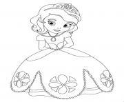 princesse sofia timide lors du bal dessin à colorier