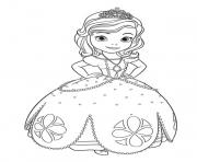 Coloriage Princess Sofia the First Going to Dance