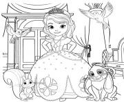 Coloriage Princess Sofia the First Going to Dance dessin
