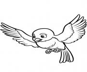 mia le oiseau de princesse sofia disney dessin à colorier