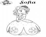 princesse sofia disney dessin à colorier