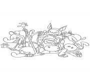 Coloriage la bande des minijusticiers dessin