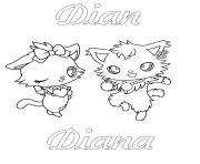 Coloriage Jewelpet Dian Diana