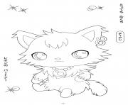 Jewelpet 7 dessin à colorier