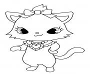 Coloriage Jewelpet Diana