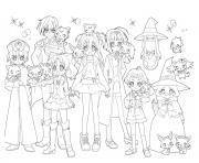 Jewelpet les personnages dessin à colorier