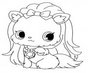 Coloriage Jewelpet Topaz