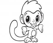 Coloriage cute singe animal