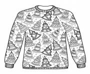Coloriage Christmas Sweater Adulte Noel