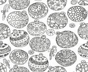 Coloriage adulte noel boules decorations