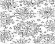 Coloriage flocon de neige adulte noel zentangle