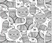 pattern bas de noel boule noel adulte dessin à colorier