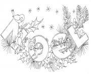 doodle noel adulte texte dessin à colorier