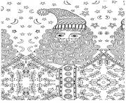 Coloriage pere noel adulte anti stress