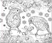 Coloriage christmas adult coloring noel adulte
