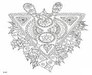 Coloriage mythical creature with tribal pattern adulte