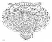 Coloriage owl with tribal pattern adulte dessin