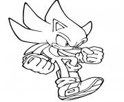 Coloriage captivating classic sonic
