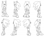 Coloriage sonic the hedgehog by darkhedgehog23