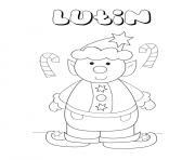 lutin de noel maternelle enfant scolaire dessin à colorier
